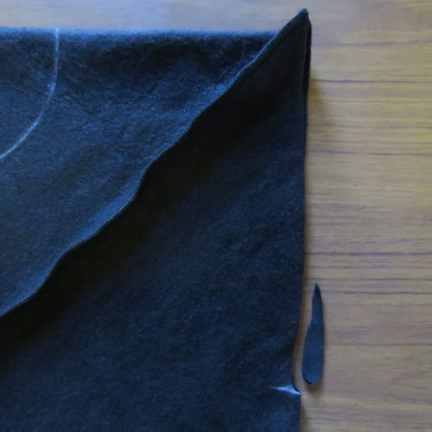 Xanthea top cutting the armhole slit