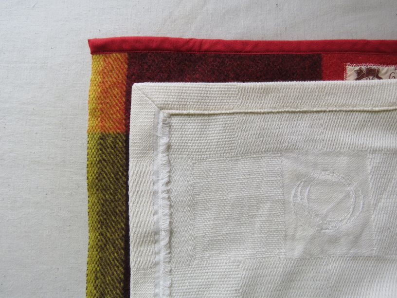 Zero waste bathrobe and coat hem details
