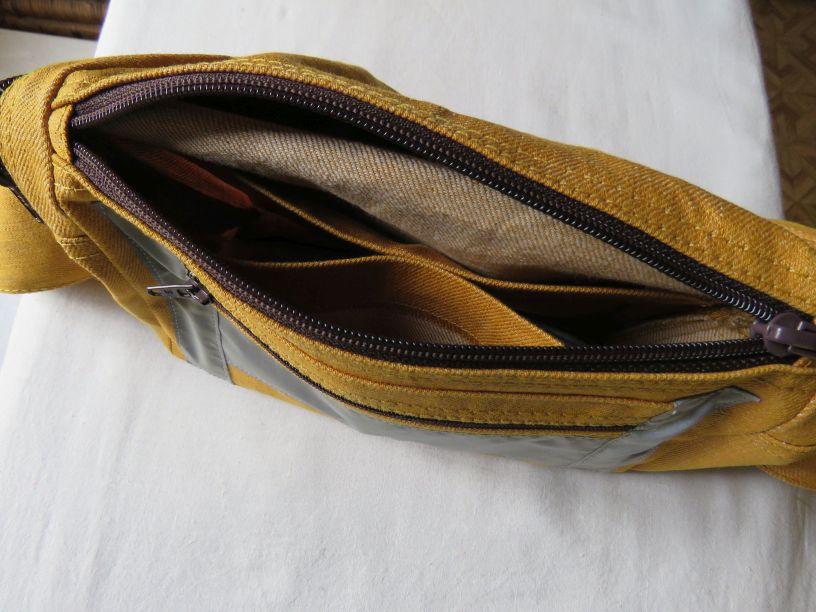 Zero waste velo bag showing interior