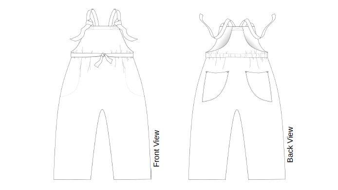 Simone overalls sketch