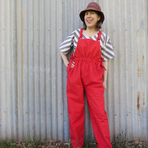 Simone overalls with waist gathers